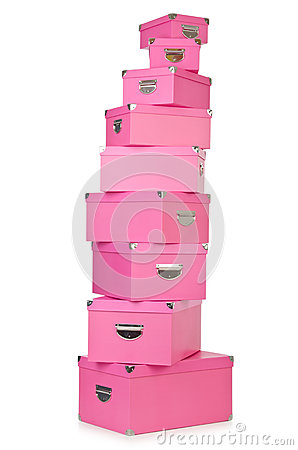 Pink giftboxes