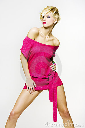 Pink Girl Stock Images - Image: 7886774