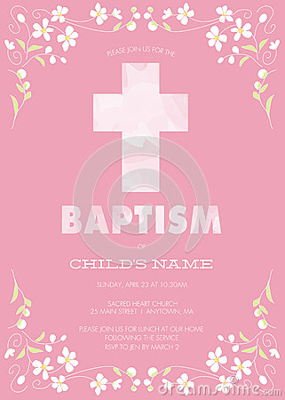Pink Girl S Baptism Christening First Communion