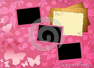 Pink girly framework template
