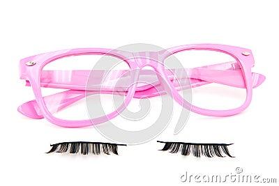 Pink Glasses and Fake Eyelashes