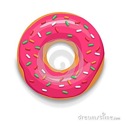 Free Pink Glazed Donut Icon, Cartoon Style Stock Photos - 79441823