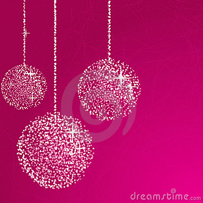 Free Pink Glitter Balls Stock Photos - 17229473