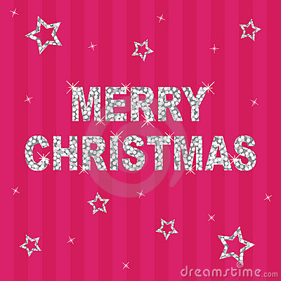 Pink glitter christmas