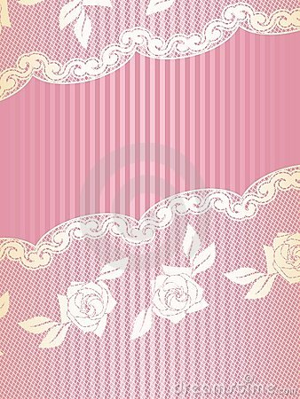 Pink and Gold French lace background