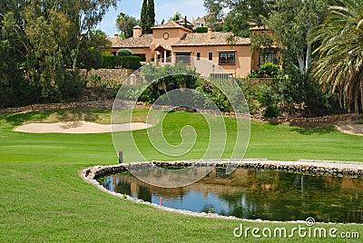 Pink golf villa
