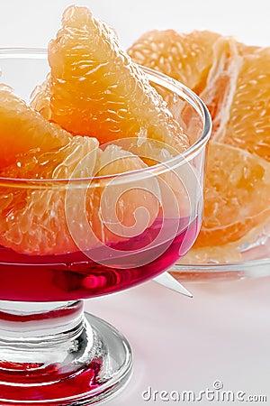 Pink grapefruit dessert