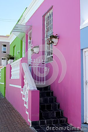 Pink and Green House front