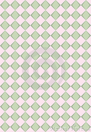 Pink and green rhombus texture