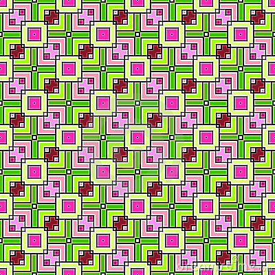 Pink and Green Squares Seamless