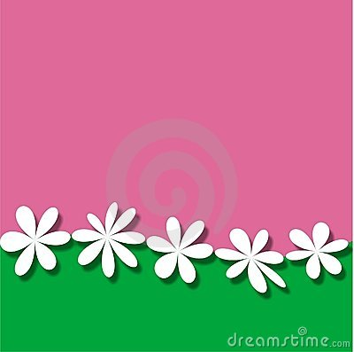 Flower Picture Frame on Pink And Green Background Frame Wallpaper With White Fantasy Flowers