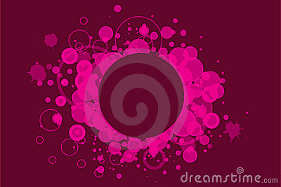 Pink grunge banner
