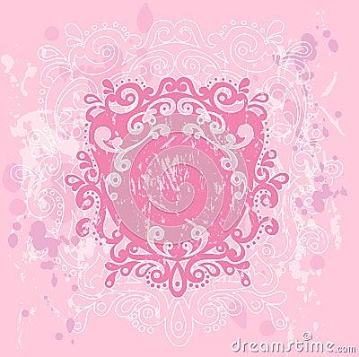Pink Grunge Crest