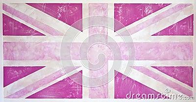 Pink Grunge Union Jack