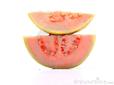 Pink guava slices