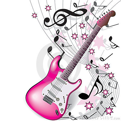 Free Pink Guitar Royalty Free Stock Photo - 12356935