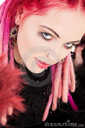 Free Pink Hair Girl Stock Photography - 9615302