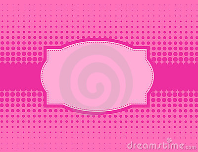 Pink halftone background