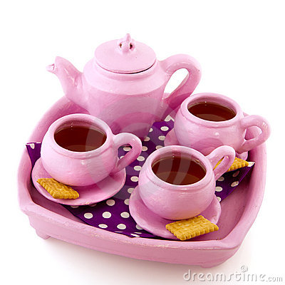 Pink handcraft crockery