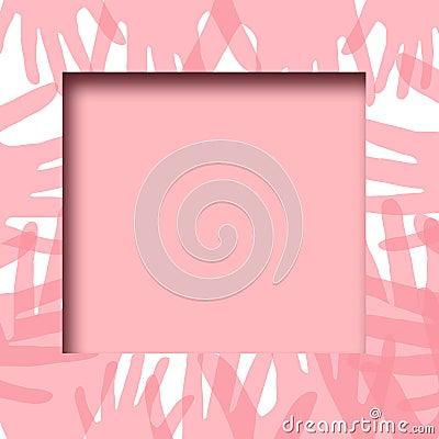 Pink hands frame