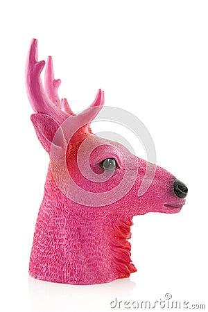 Pink head of a deer