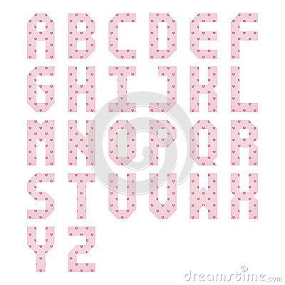Pink heart alpha...A Alphabet Design In Heart