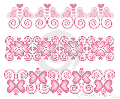 Pink Heart Borders 1