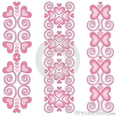 Pink Heart Borders 2