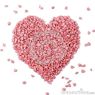 Pink heart - love symbol