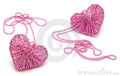 Pink Heart Necklaces