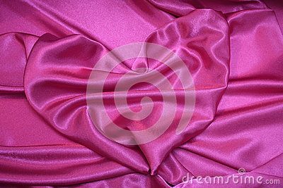 Pink heart - Romantic valentine card Stock photos