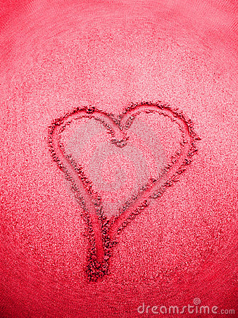 Pink heart sign