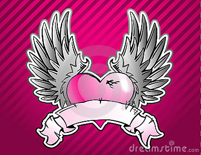 Pink Heart Tattoo
