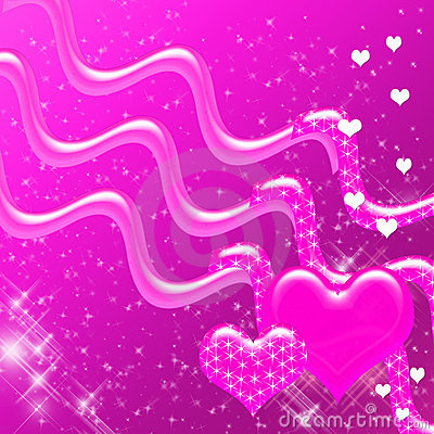Free Pink Hearts And Sparkles Backdrop Stock Photography - 4237412