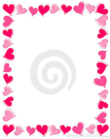 Pink Hearts Border Royalty Free Stock Photography - Image: 16886787