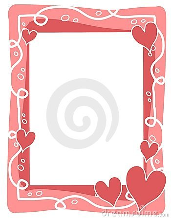 Pink Hearts Bubbles Valentine's Day Frame