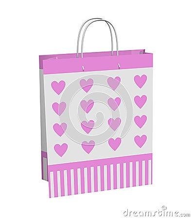Pink Hearts Gift Bag