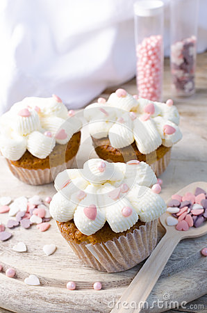 Pink Hearts Muffins