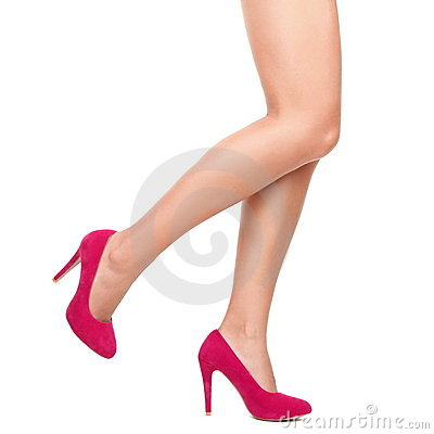 Free Pink High Heels And Sexy Legs Royalty Free Stock Image - 17187646
