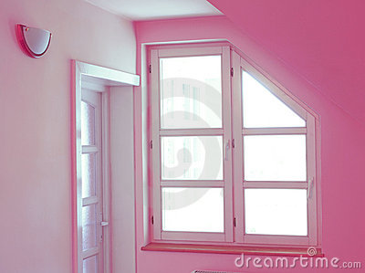 Pink home interior