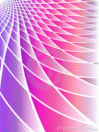 Pink and iridescent techno background