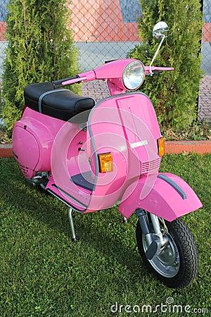 Pink Italian antique Vespa