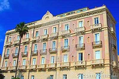 Pink italian hotel