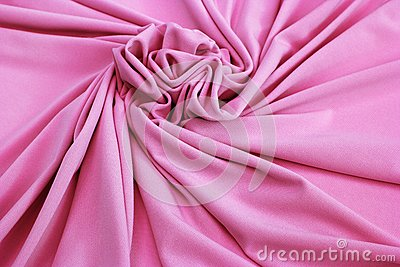 Pink jersey fabric textured