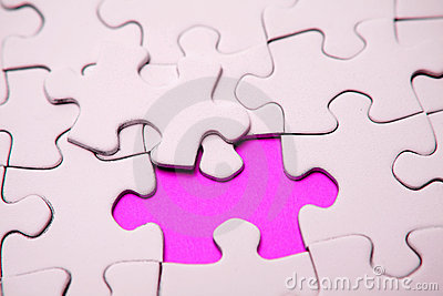 Pink jigsaw puzzle pieces