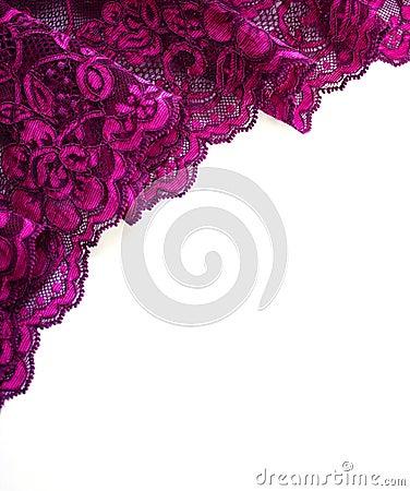 Free Pink Lace Border On White Stock Photo - 14867220