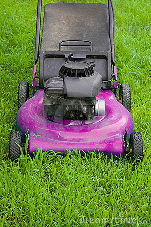 Pink Lawn Mower Stock Photos Image 7475363