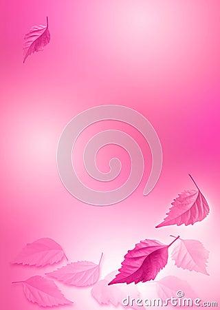 Pink_leaf_background