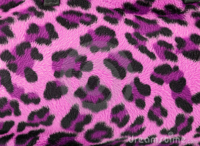Pink leopard faux fur background