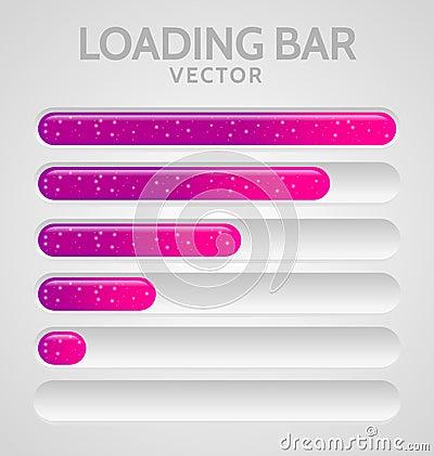 Pink Loading Bars